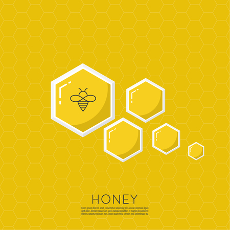 Vector icon honeycomb. vector illustration. Illustration