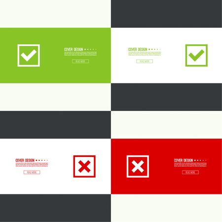 rejection: Set of vector buttons Illustration