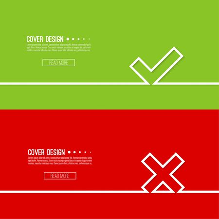 rejection: vector background with check
