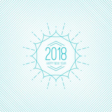 Happy new year. vector illustration Vetores