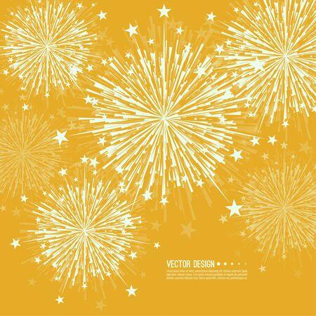 fire crackers: Vector firework design. Illustration