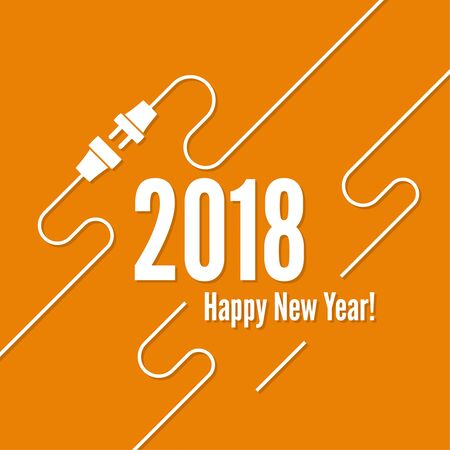 resolution: Connecting to new year. Illustration