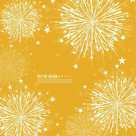 Vector firework design. Illustration