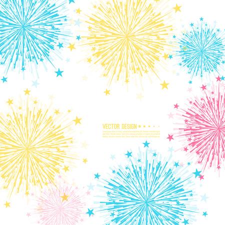 ベクトルの花火のデザイン。  イラスト・ベクター素材