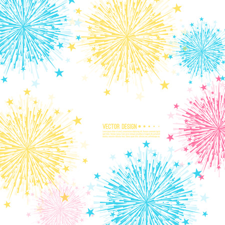 pyrotechnics: Vector firework design. Illustration