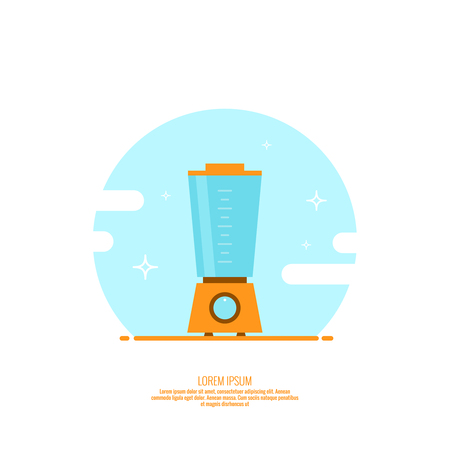 Electric kitchen appliance, blender. Illustration