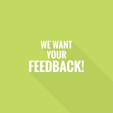 We want your feedback vector illustration 向量圖像