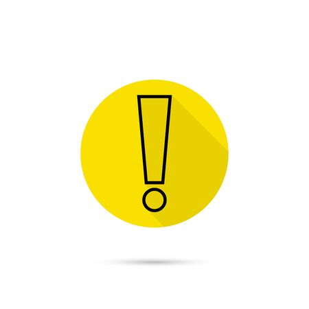 Exclamation mark icon. Attention sign icon. Hazard warning symbol. vector