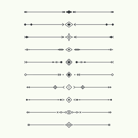 Dividers vector set isolated.