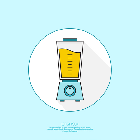 Electric kitchen appliance, blender. Blender machine to make healthy food, smoothies. Vector isolated icon of modern design.
