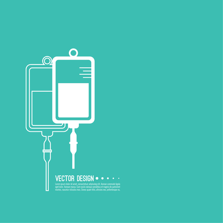 A Vector of iv bag icon.