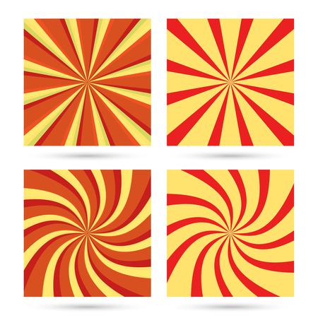 Set of sunburst and swir. Illustration