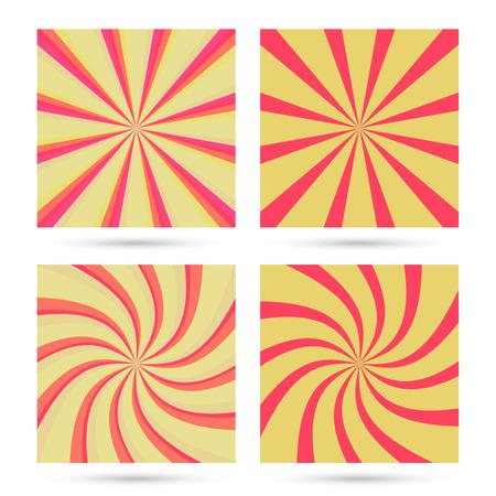 Set of sunburst and swirl. Illustration
