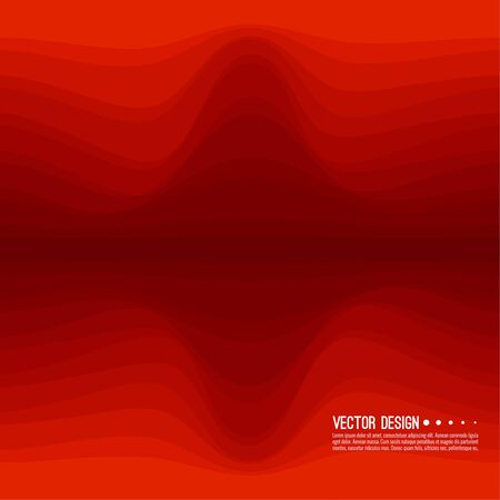 Distorted wave red texture.