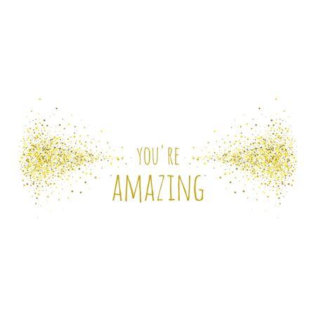 Phrase you re amazing. 向量圖像