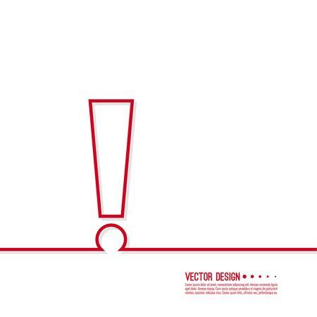 Exclamation mark icon. Illustration