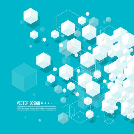 Abstrait avec des cubes transparents. Banque d'images - 102344033
