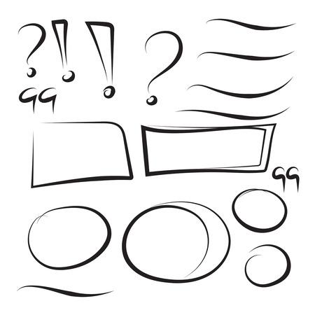 Set hand drawn rectangle. Illusztráció