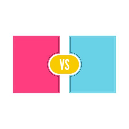VS Vector Letters Illustration icon.