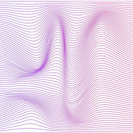 Vector color stripe deformation background.