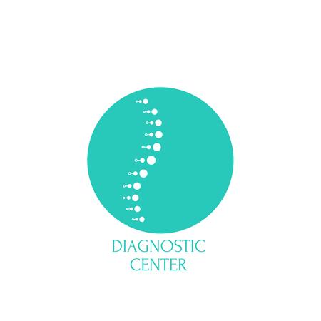 Spine diagnostic center. Stock Illustratie