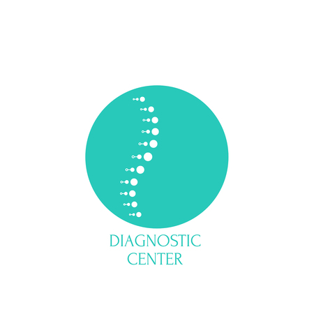 Spine diagnostic center. 向量圖像