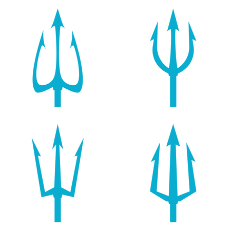Poseidon s Trident set. Ilustração