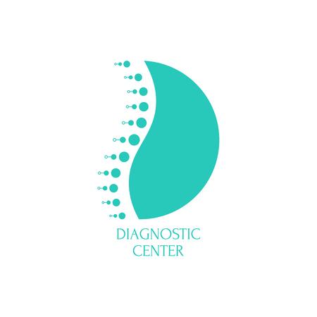 Centro de diagnóstico de columna. Ilustración de vector