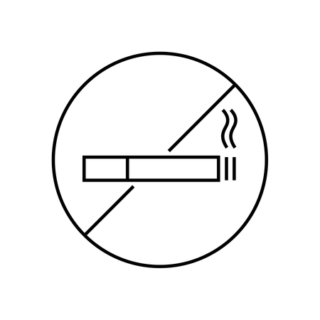 Vector icon are no Smoking. The symbol with the cigarette crossed out.