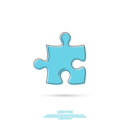 Vector abstract pictogram met puzzelstukjes.