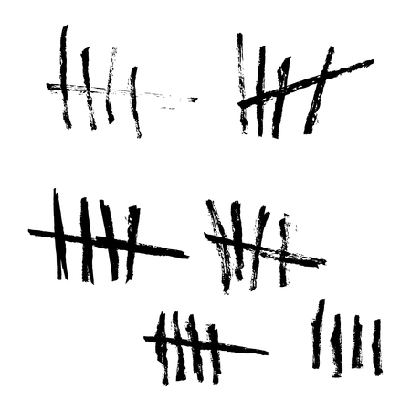 Vector tally marks.