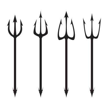 Poseidon s Trident set. Illustration