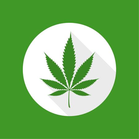 Vector illustration of marijuana Illustration