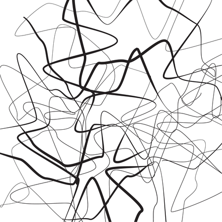 Wavy asymmetrical illustration.