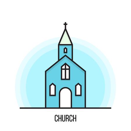 Vector illustration of a Church.
