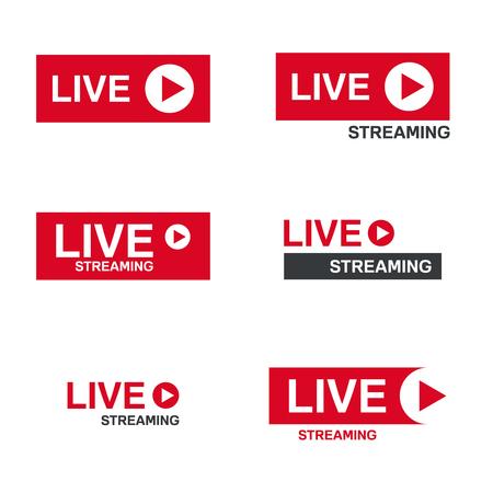 Simbolo del live streaming