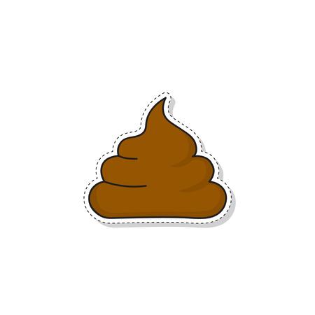 Poop vector icon.