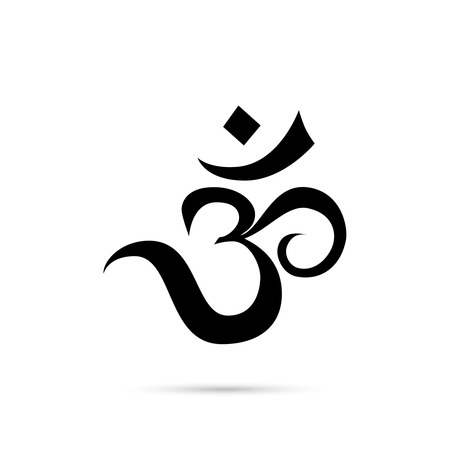 Om vector sign. Stock Photo