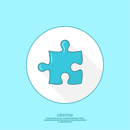 Vector concept icon with Jigsaw puzzle pieces.