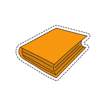 Vector sketch hand drawing book icon. Illustration on white background Ilustrace