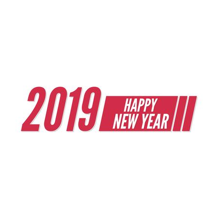 Happy new year 2019 theme. Vector symbol illustration Ilustracja