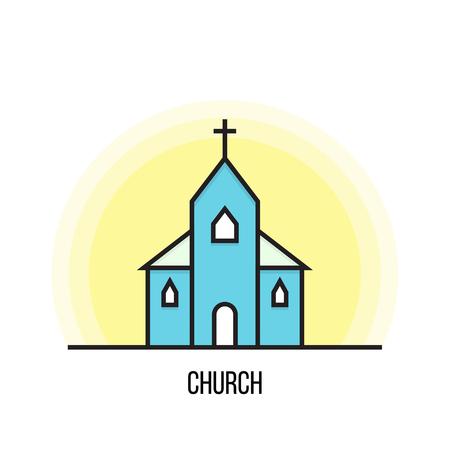 Ilustración de vector de una iglesia.