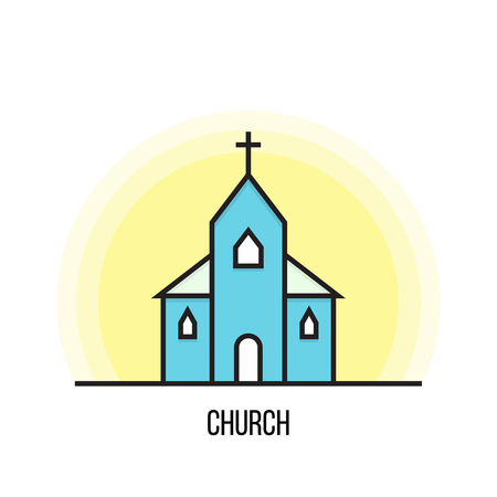 Vector illustration of a Church.