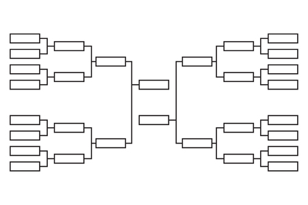 Vector tournament  bracket Illustration
