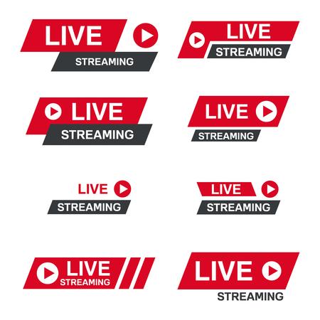 Live stream symbol Illustration