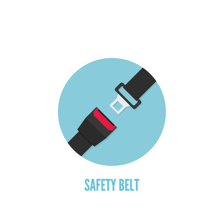 Seat Belt vector icon isolated. Safety of movement on car, airplane. Illustration