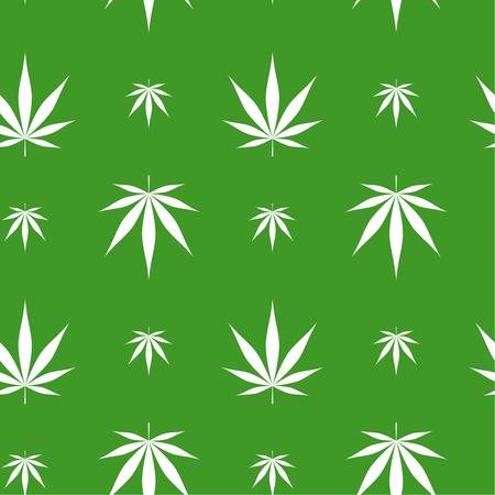 Vector seamless pattern with marijuana leaf, cannabis. Stock Vector - 125555065