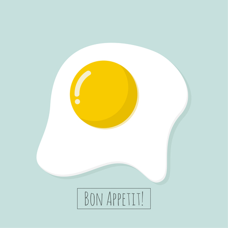 Appetizing cooked fried egg.