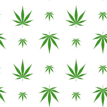 Vector seamless pattern with marijuana leaf, cannabis. Stock Vector - 122571013
