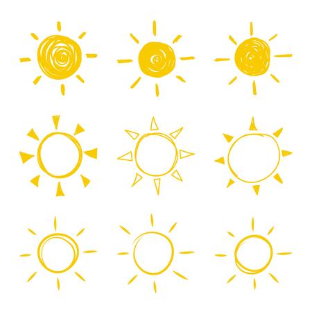 Set of vector sun.